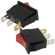 5Pcs  Button On-Off 3 Pin Rocker Switch DPST LED Boat Car Rectangle Light SPST s