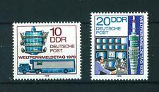 East Germany 1978 World Telecommunication full set of stamps. MNH. Sg E2031-2032