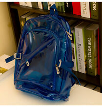 Hot Fashion PVC Transparent Clear Plastic School Student Book Bag Backpack Sweet