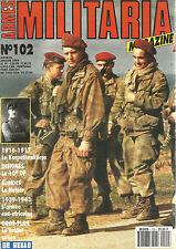 MILITARIA N°102 1916-17 KARPATHENKORPS/ 10e DP/ LE HETZER / ARMEE SUD-AFRICAINE