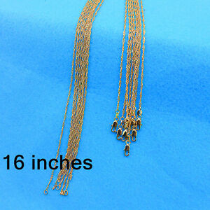 "Wholesale 16"" 10PCS Fashion Jewelry 18K Gold Filled Water Wave Chain Necklace"