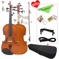 Astonvilla 4/4 Solid Electroacoustic Violin with Pickup Case & Accessories