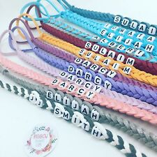 🎀plastic clip Personalised  Dummy clip LEATHER SUEDE 🎀