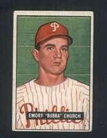 1951 Bowman #149 Bubba Church VGEX RC Rookie Phillies 105590