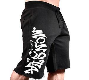 New Men's Monsta Clothing Fitness Gym Sweatshorts - Street Urban