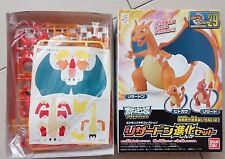 BANDAI Pokemon Plamo BW  Charmander Charmeleon Charizard Evolution Set Model Kit