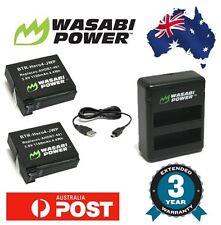 Wasabi Power GoPro HERO4 1160mAh (2pack) Battery + Dual USB Charger AHDBT-401