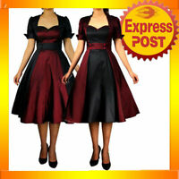 RK51 Rockabilly 50s 60s Pin Up Cocktail Party Evening Retro Swing Dance Dress