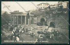 Firenze Fiesole Teatro Romano Le Baccanti Foto cartolina QQ2297