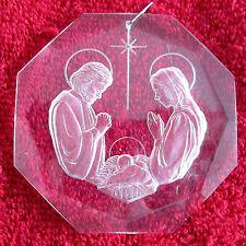 Vintage Collectible 1979 Hallmark Acrylic Holy Family Christmas Ornament