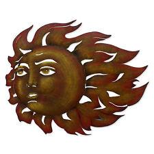 Sun Wall Sculpture Metal Art Handmade 'The Sun's Song' NOVICA Mexico