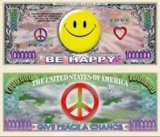 Smiley Face Million Dollar Bill - Set of 50