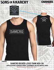 Sons Of Anarchy Soa Samcro en Caja Logo Grim Reaper Motero Tanque Top Camiseta