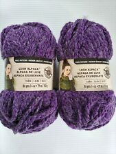 Loops & Threads Lush Alpaca Yarn Lot of 2 Amethyst Purple Super Bulky Chunky