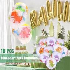 10PCS 12'' Jurassic Dinosaur Latex Balloons Lot Child Birthday Party Supplies ,