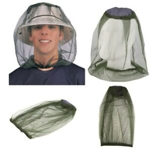 Anti Mosquito/Insect Fishing Mesh Hat Outdoor Camping Face Net Cover free ship