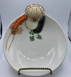 Vintage Tre Art Seafood bowl Made Italy Hand Painted Excellent