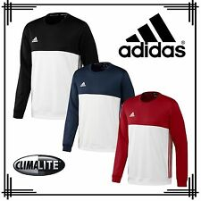 adidas T16 Mens Sweatshirt Climalite Sports Crew Neck Track Jumper Top XL Red