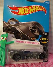BATMOBILE #134✰Gray/blue;gray pr5✰BATMAN✰2017 Hot Wheels Kmart case F