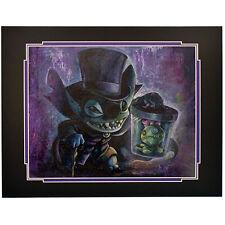 "Disney Parks Haunted Mansion Stitch W/ Scrump As Hatbox Ghost Print 14""x18"""