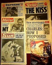 Charles & Diana Royal Wedding Newspaper Collection 1981 Sun Star Mirror Express