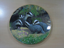 Royal Doulton British Wildflife The Family Home Badgers 1994 Adrian C Rigby