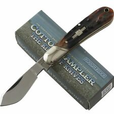 Rough Rider Brown Stag Bone Small Cotton Sampler Folding Pocket Knife RR1833