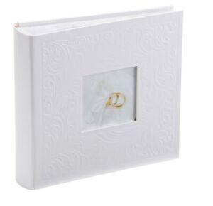 Kenro Pearl White Ring Design Floral Wedding Album For 200 Photos
