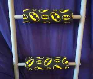 BATMAN Padded Bunk Bed Ladder Rung Covers *No-Tool Install* (Safe, Non Slip)