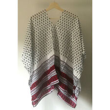 NEW Women Summer Kaftan Caftan Ladies Cotton Top Boho Loose Batwing Dress Cape