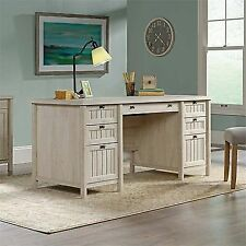 Sauder Costa Executive Desk in Chalked Chestnut