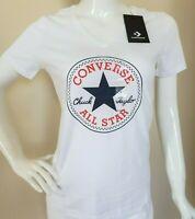 CONVERSE Women's All Star Chuck Taylor Crew Neck T Shirts Sizes S, M, L, XL, XXL