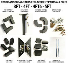 Storage Ottoman & Standard Beds Replacement Quality Parts 3ft 4ft 4ft6 5ft Black