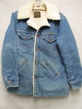 W3483 Maverick Sherpa Blue Snap Up USA Made Long Sleeve Long Coat Men M