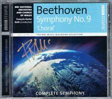 Francois-Xavier Roth firmato Beethoven: Symphony No. 9 CD BBC Live Susan Gritton