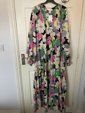 H&M SS20 Cotton Print Kaftan Dress BNWT Size Small