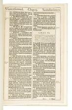 Original Leaf from First Edition, First Issue of 1611 King James Bible - w/ COA