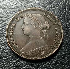 UK Great Britain 1861 Queen Victoria farthing 20mm