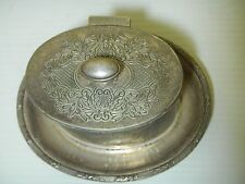 Antique English SILVER Tea Caddy Cigarette Box Menorah Barker Brother 2pc