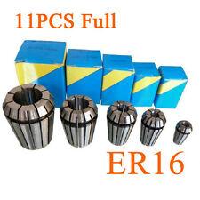 11PCS Full ER16 Precision Spring Collet Set CNC Milling Lathe Tool & Workholding