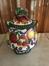Fitz & Floyd Classics Florentine Fruit - Medium Canister With Lid