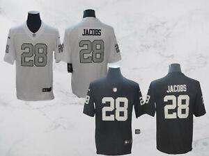 Oakland Raiders #28 Josh Jacobs Men's Stitched Jersey