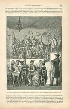 Concert des Aveugles Foire Saint-Ovide Place de la Concorde GRAVURE PRINT 1878