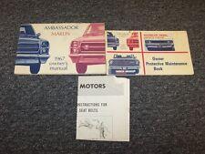 1967 Rambler Marlin & Ambassador Original Owner Owner's Operator Manual Set