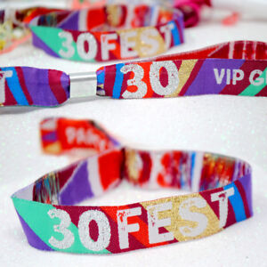 30FEST - 30th Birthday Party Festival Wristbands Favours