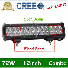 12inch 72W LED Light Bar Work SPOT/FLOOD/COMBO CREE 4WD ATV JEEP DRIVING PK 14""