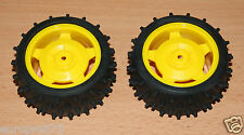 Tamiya Super Fighter G/Holiday Buggy/DT02, 9400239/19400239 Rear Tires & Wheels