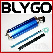 460mm BLUE Alloy Exhaust Muffler+ Clamp 150cc 250cc PIT Quad Dirt Bike ATV Buggy