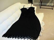MAGGY LONDON WOMENS DRESS SIZE 14 BLACK SPAGHETTI STRAPS LACE NWOT