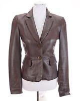 Laundry Shelli Segal Womens 100% Lamb Leather Jacket Wine Red Sz 4